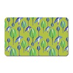 Tropical Floral Pattern Magnet (Rectangular) Front