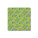 Tropical Floral Pattern Square Magnet Front