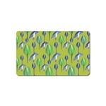 Tropical Floral Pattern Magnet (Name Card) Front