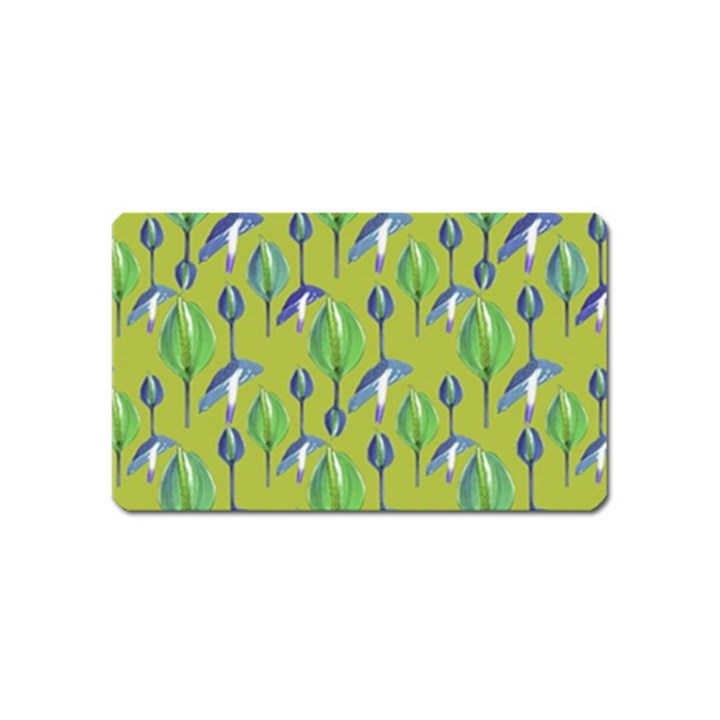 Tropical Floral Pattern Magnet (Name Card)