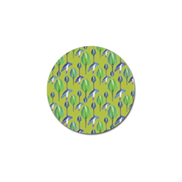 Tropical Floral Pattern Golf Ball Marker