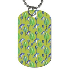 Tropical Floral Pattern Dog Tag (Two Sides)