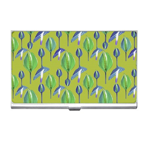 Tropical Floral Pattern Business Card Holders