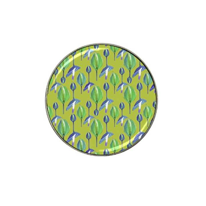 Tropical Floral Pattern Hat Clip Ball Marker (4 pack)