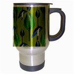 Tropical Floral Pattern Travel Mug (Silver Gray) Right