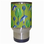 Tropical Floral Pattern Travel Mugs (White) Center