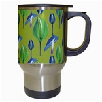 Tropical Floral Pattern Travel Mugs (White) Right