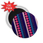 Purple And Pink Retro Geometric Pattern 2.25  Magnets (100 pack)  Front