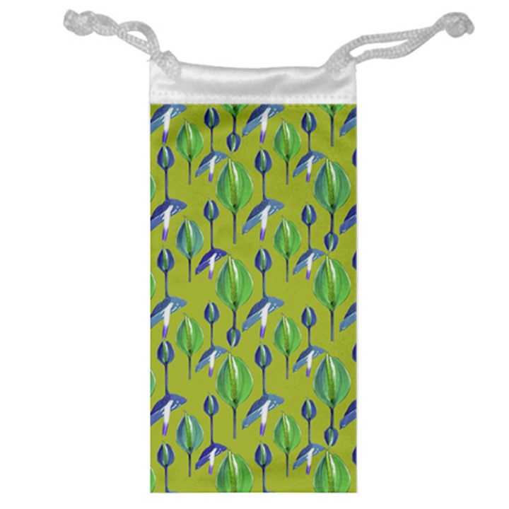 Tropical Floral Pattern Jewelry Bags