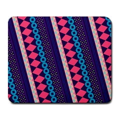 Purple And Pink Retro Geometric Pattern Large Mousepads