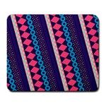 Purple And Pink Retro Geometric Pattern Large Mousepads Front