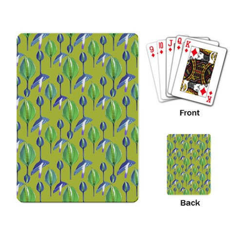 Tropical Floral Pattern Playing Card