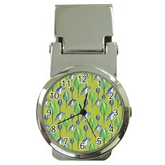 Tropical Floral Pattern Money Clip Watches