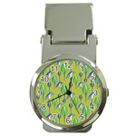 Tropical Floral Pattern Money Clip Watches Front