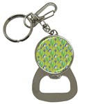 Tropical Floral Pattern Bottle Opener Key Chains Front
