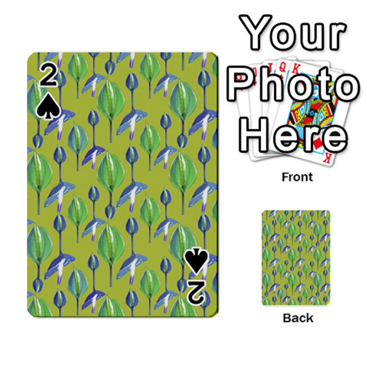 Tropical Floral Pattern Playing Cards 54 Designs
