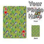 Tropical Floral Pattern Playing Cards 54 Designs  Front - Heart4