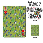 Tropical Floral Pattern Playing Cards 54 Designs  Front - Heart5
