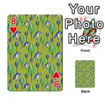 Tropical Floral Pattern Playing Cards 54 Designs  Front - Heart8