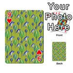 Tropical Floral Pattern Playing Cards 54 Designs  Front - Heart9