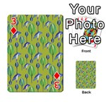 Tropical Floral Pattern Playing Cards 54 Designs  Front - Diamond3