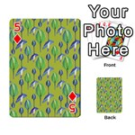 Tropical Floral Pattern Playing Cards 54 Designs  Front - Diamond5
