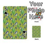 Tropical Floral Pattern Playing Cards 54 Designs  Front - Spade5