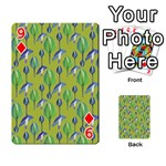 Tropical Floral Pattern Playing Cards 54 Designs  Front - Diamond9