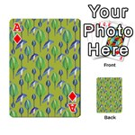 Tropical Floral Pattern Playing Cards 54 Designs  Front - DiamondA
