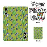 Tropical Floral Pattern Playing Cards 54 Designs  Front - Spade9