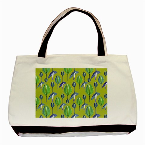 Tropical Floral Pattern Basic Tote Bag