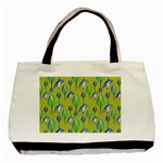 Tropical Floral Pattern Basic Tote Bag Front
