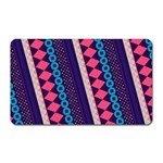 Purple And Pink Retro Geometric Pattern Magnet (Rectangular) Front