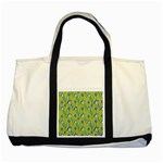 Tropical Floral Pattern Two Tone Tote Bag Front