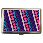 Purple And Pink Retro Geometric Pattern Cigarette Money Cases Front