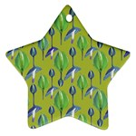 Tropical Floral Pattern Star Ornament (Two Sides)  Front