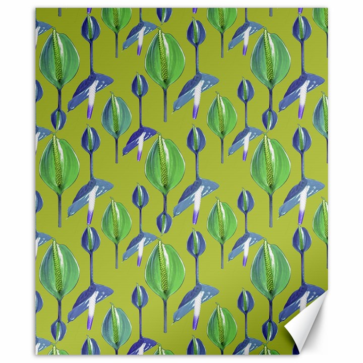 Tropical Floral Pattern Canvas 8  x 10