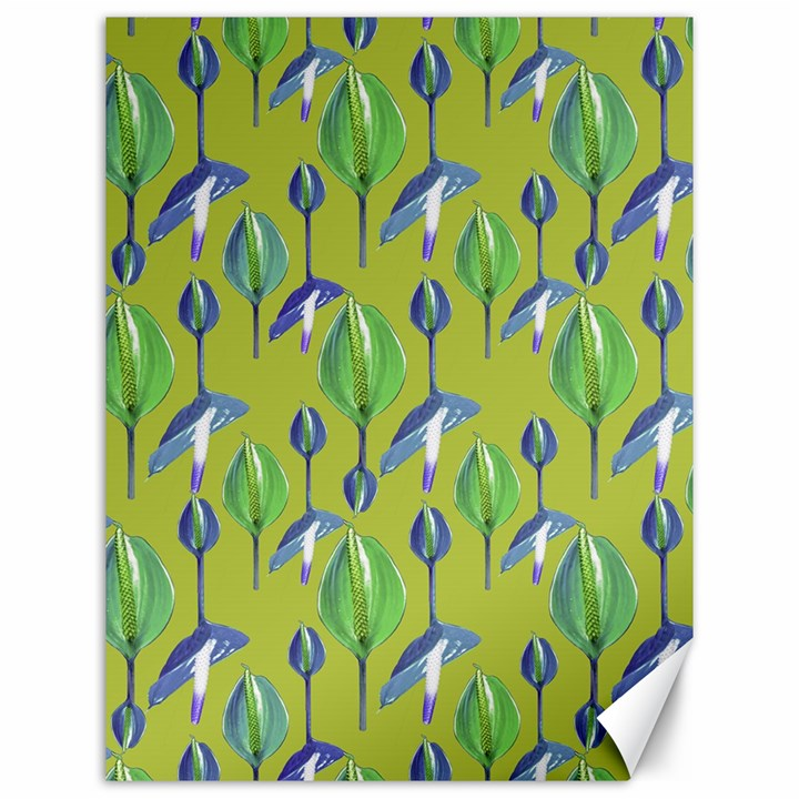 Tropical Floral Pattern Canvas 12  x 16