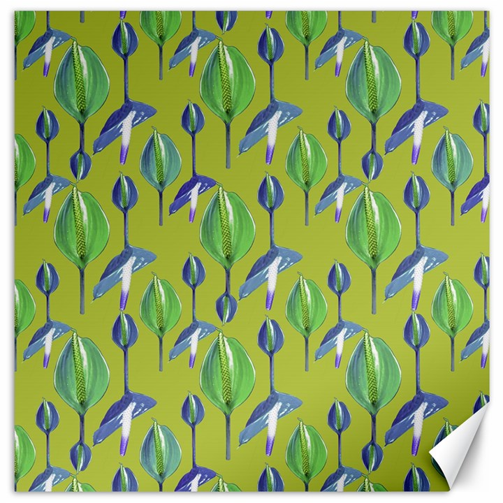 Tropical Floral Pattern Canvas 16  x 16