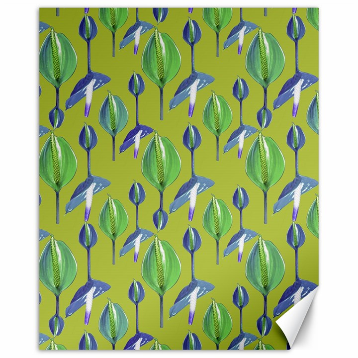 Tropical Floral Pattern Canvas 16  x 20