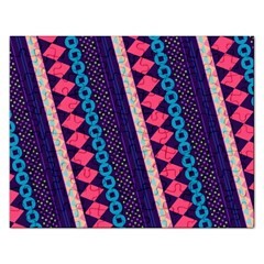 Purple And Pink Retro Geometric Pattern Rectangular Jigsaw Puzzl