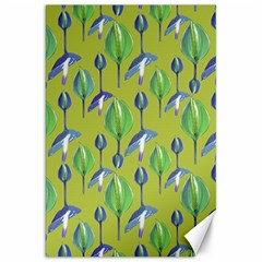 Tropical Floral Pattern Canvas 20  X 30