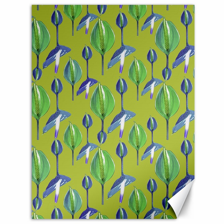 Tropical Floral Pattern Canvas 36  x 48