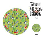 Tropical Floral Pattern Playing Cards 54 (Round)  Front - Diamond5