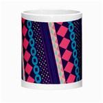 Purple And Pink Retro Geometric Pattern Morph Mugs Center