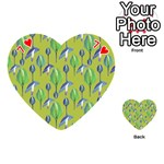 Tropical Floral Pattern Playing Cards 54 (Heart)  Front - Heart7