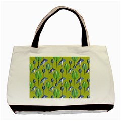 Tropical Floral Pattern Basic Tote Bag (two Sides)
