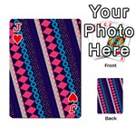 Purple And Pink Retro Geometric Pattern Playing Cards 54 Designs  Front - HeartJ