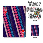 Purple And Pink Retro Geometric Pattern Playing Cards 54 Designs  Front - HeartQ