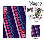 Purple And Pink Retro Geometric Pattern Playing Cards 54 Designs  Front - HeartK